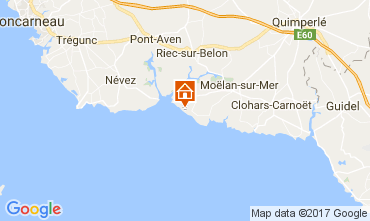 Carte Moelan sur Mer Villa 109152