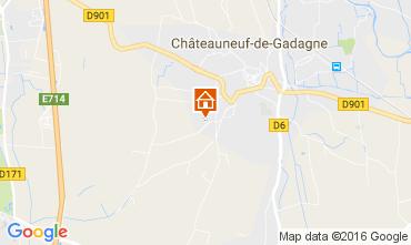 Carte Châteauneuf-de-Gadagne Gite 106637