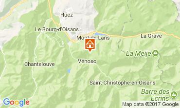 Carte Les 2 Alpes Appartement 111830