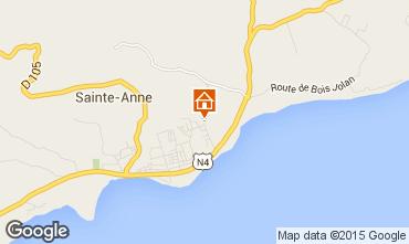 Carte Sainte Anne (Guadeloupe) Gite 71841