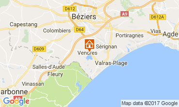 Carte Valras-Plage Villa 112635
