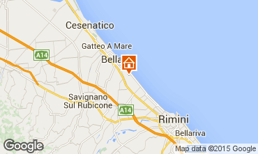 Carte Bellaria Igea Marina Appartement 31420