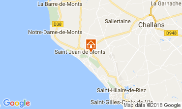 Carte Saint Jean de Monts Mobil-home 110318