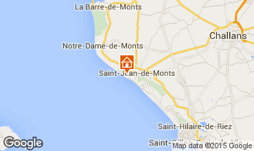 Carte Saint Jean de Monts Villa 66656