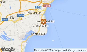 Carte Santa Pola Appartement 56526