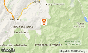 Carte Champagny en Vanoise Studio 576