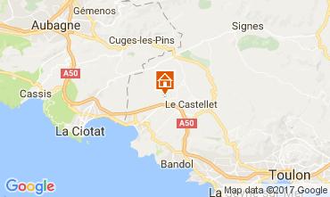 Carte La Cadière d'Azur Mobil-home 77786