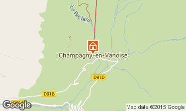Carte Champagny en Vanoise Appartement 578