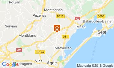 Carte Cap d'Agde Villa 116895