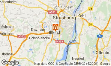 Carte Strasbourg Gite 55210