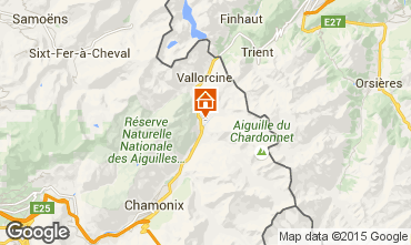 Carte Chamonix Mont-Blanc Chalet 721