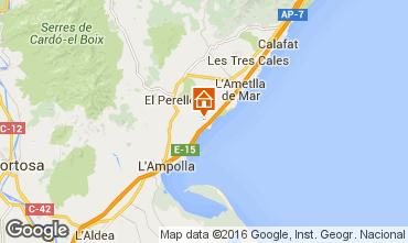 Carte La Ametlla de Mar Chalet 102064