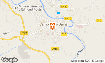 Carte Cambo les Bains Appartement 101386