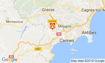 Carte Cannes Gite 112877