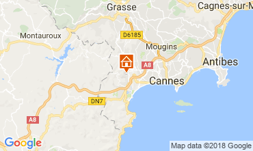 Carte Cannes Villa 114638