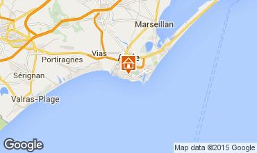 Carte Cap d'Agde Villa 100129