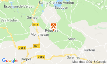 Carte Régusse Villa 116818