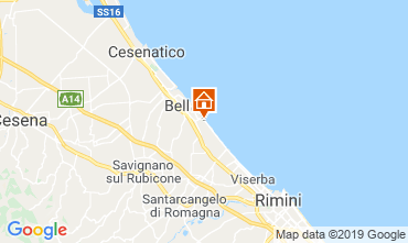 Carte Bellaria Igea Marina Appartement 81806