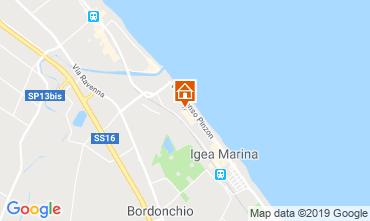 Carte Bellaria Igea Marina Appartement 81806
