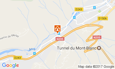 Carte Chamonix Mont-Blanc Appartement 109899