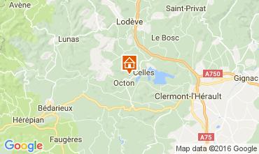 Carte Clermont l'Hérault Gite 12323