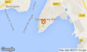 Carte Balaruc les Bains Studio 84563