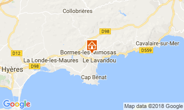 Carte Bormes Les Mimosas Villa 114556