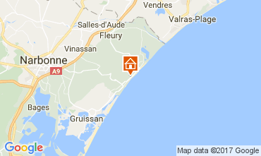 Carte Narbonne plage Appartement 107075