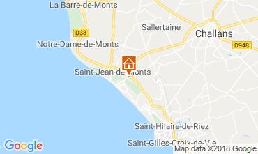 Carte Saint Jean de Monts Mobil-home 117410