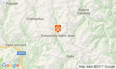 Carte Gressoney Saint Jean Chalet 111344