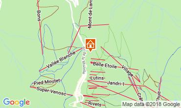 Carte Les 2 Alpes Chalet 117369