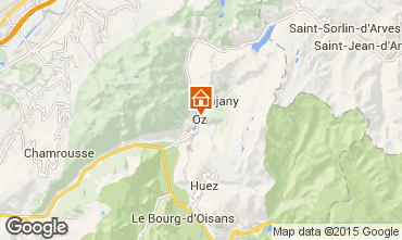 Carte Oz en Oisans Studio 74603