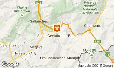 Carte Saint Gervais Mont-Blanc Chalet 2549