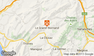 Carte Le Grand Bornand Studio 42969