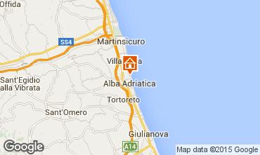 Carte Alba Adriatica Appartement 93590