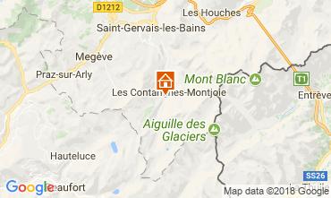 Carte Les Contamines Montjoie Gite 115103