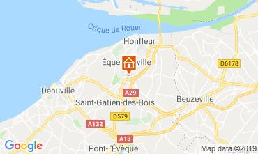 Carte Honfleur Gite 120199
