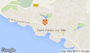 Carte Saint Palais sur Mer Studio 81572