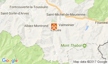 Carte Valloire Gite 108351
