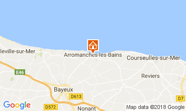 Carte Arromanches Gite 113148