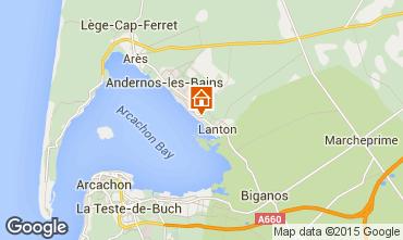 Carte Andernos les Bains Gite 80951