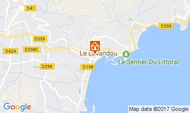 Carte Le Lavandou Studio 17325