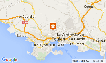 Carte Toulon Gite 79569