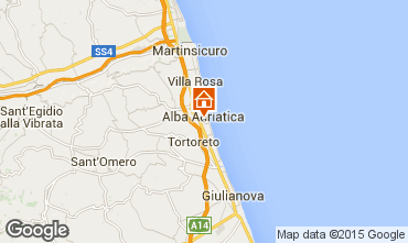 Carte Alba Adriatica Appartement 64221