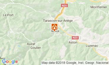 Carte Ussat les Bains Gite 95886