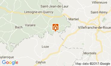 Carte Saint-Cirq-Lapopie Gite 51135