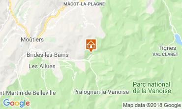 Carte Champagny en Vanoise Appartement 117401