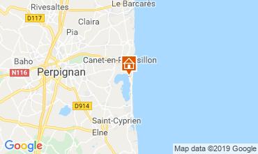 Carte Canet-en-Roussillon Mobil-home 118219