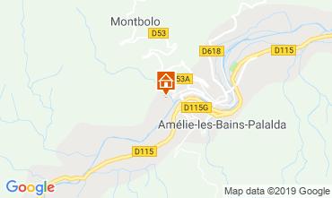 Carte Amélie-Les-Bains Studio 119639