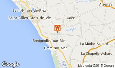 Carte Bretignolles sur mer Maison 85847
